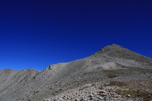 Mount Shavano and Mount Tabeguache (background, left)