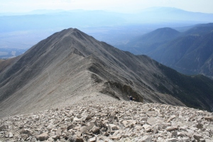 A look back along the ridge to Mt. Princeton